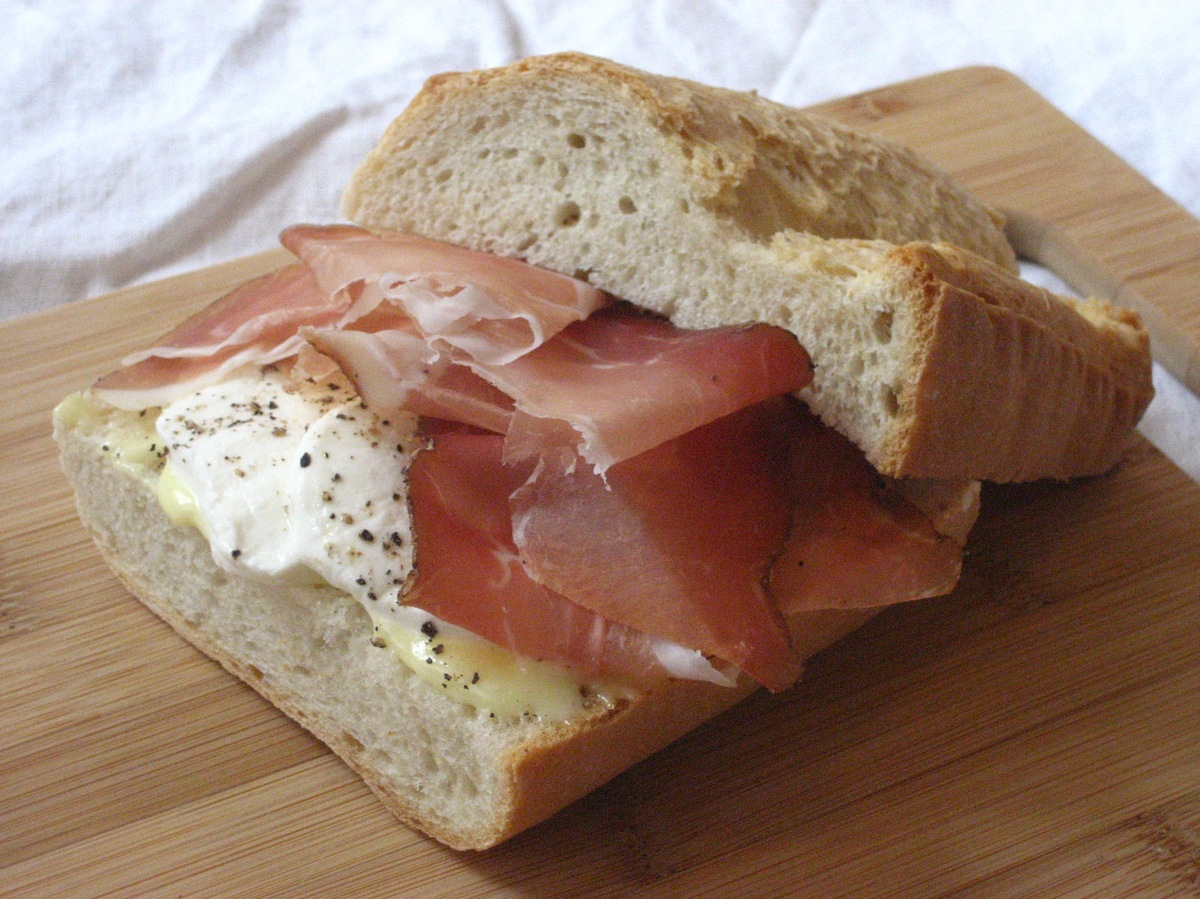 """<strong>Get the <a href=""""http://food52.com/recipes/4804-speck-and-mozzarella-baguette-with-homemade-mayonnaise"""" target=""""_blan"""