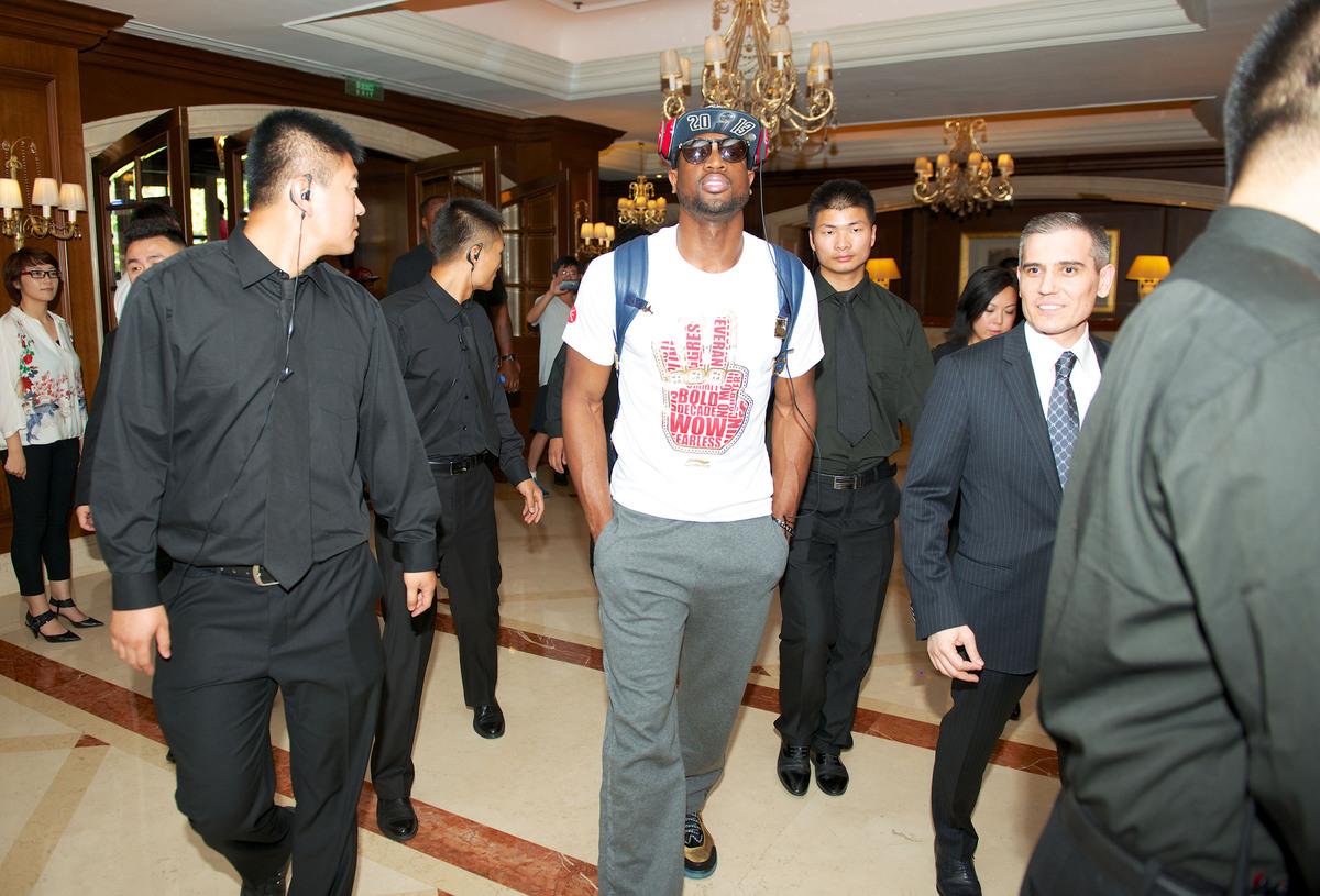 BEIJING, CHINA - JULY 02:  Dwyane Wade is seen arriving in Beijing on July 2, 2013 in Beijing, China. (Photo by Bobby Metelus