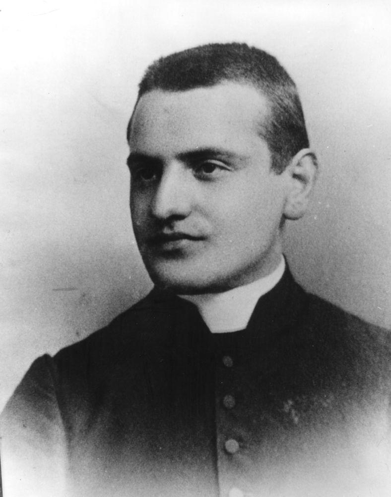 1905:  Angelo Giuseppe Roncalli (1881 - 1963), secretary to the Bishop of Bergamo, and later Pope John XXIII.  (Photo by Keys