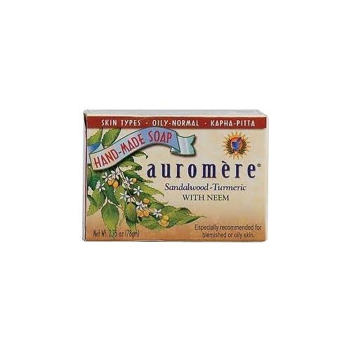 "$2, <a href=""http://www.drvita.com/p-12294-auromere-ayurvedic-bar-soap-sandalwood-turmeric-275-oz.aspx?CAWELAID=1916423419&ca"