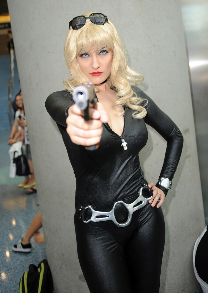 Cosplayer Annisse as Julia from 'Cowboy Bebop' attends the Anime Expo (AX) 2013 held at The Los Angeles Convention Center on