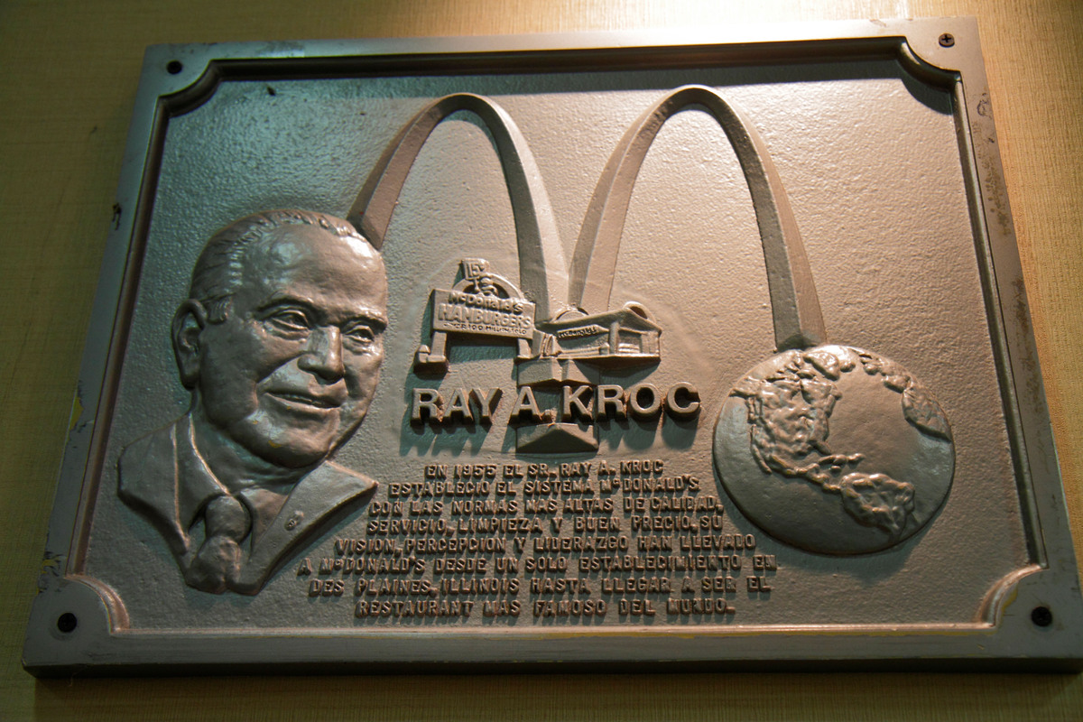 For a time, Raymond Kroc drove around the country selling milkshake machines.  When the 52-year-old met Maurice and Richard M
