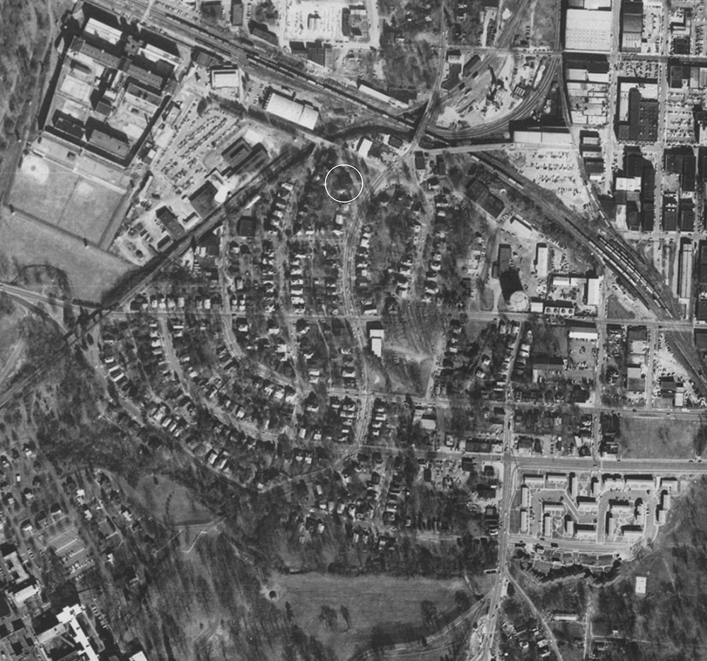 This is what Boylan Heights looked like.   Central Prison is in the upper left corner, and Triangle Correction Center is in