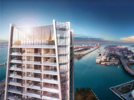 """A rendering of the Aquatic Center and Skylounge on the 60th and 61st floors of Zaha Hadid's new condo tower, <a href=""""http://"""