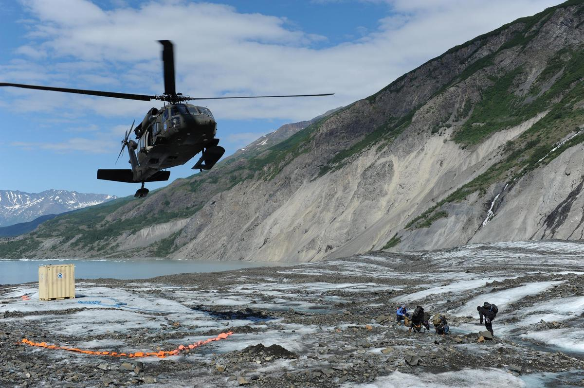 COLONY GLACIER, Alaska (June 24, 2013) – Members of a specialized investigative team from the Joint POW/MIA Accounting Comman