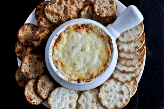 """<strong>Get the <a href=""""http://www.howsweeteats.com/2011/12/hot-cheesy-roasted-red-pepper-dip/"""" target=""""_blank"""">Cheesy Roast"""