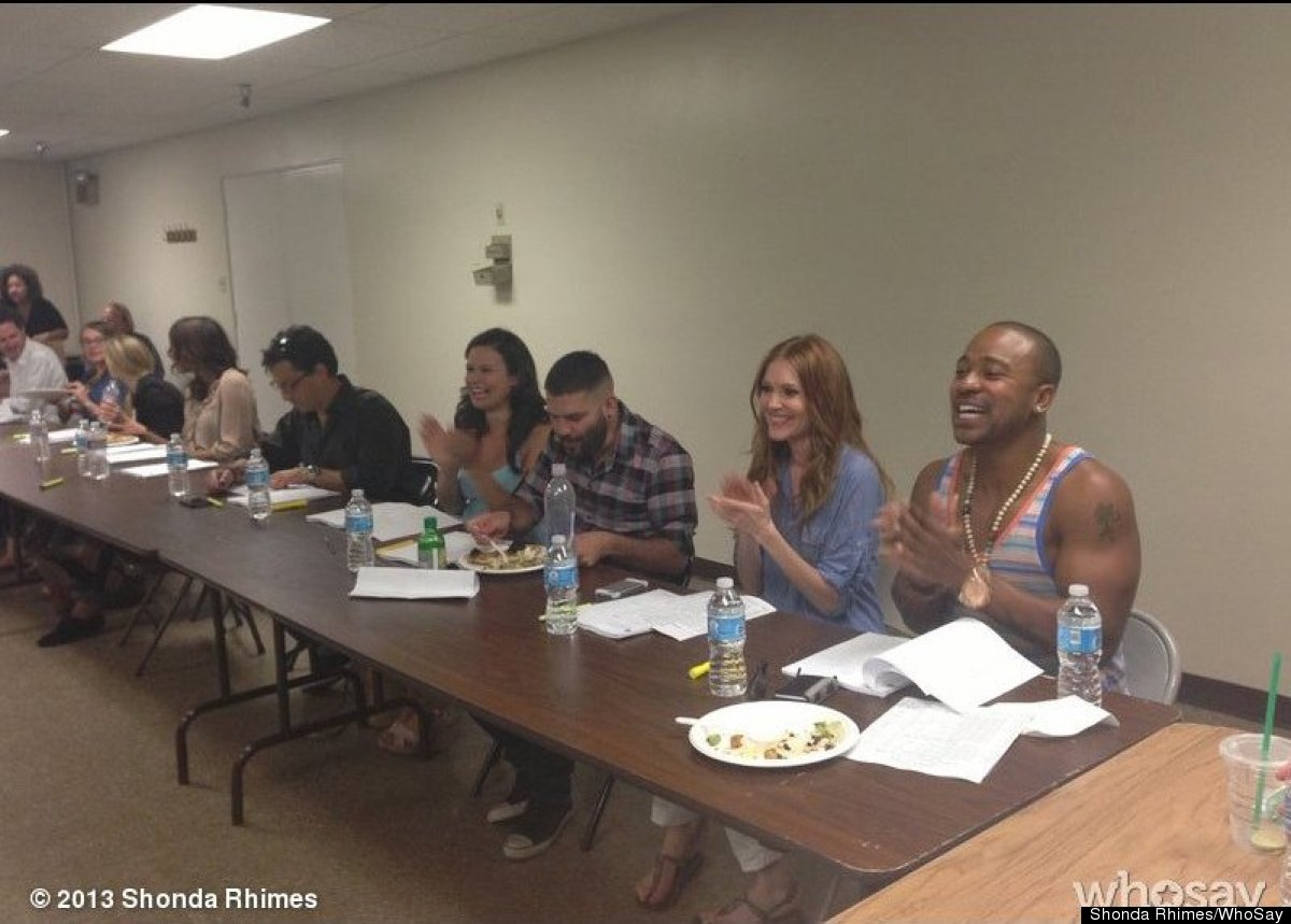 "Scandal's table read for the season premiere was great! Wonderful to see everyone -- <a href=""http://www.shondaland.com/photo"