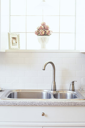Even though it comes in contact with hot water and soap multiple times daily, your kitchen sink is probably crawling with bac