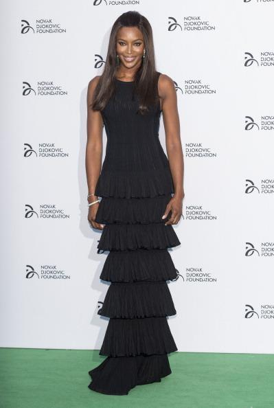 LONDON, ENGLAND - JULY 08: Naomi Campbell attends the Novak Djokovic Foundation London gala dinner at The Roundhouse on July