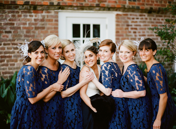 "We have no doubt that your friends could actually wear these deep blue lace dresses again.  <a href=""http://lover.ly/explore?"