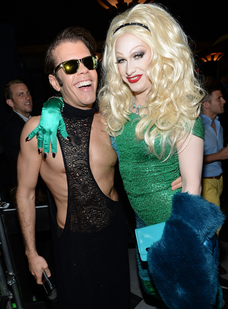 LOS ANGELES, CA - APRIL 13:  Perez Hilton (L) and Jinkx Monsoon attend the 2013 NewNowNext Awards at The Fonda Theatre on Apr