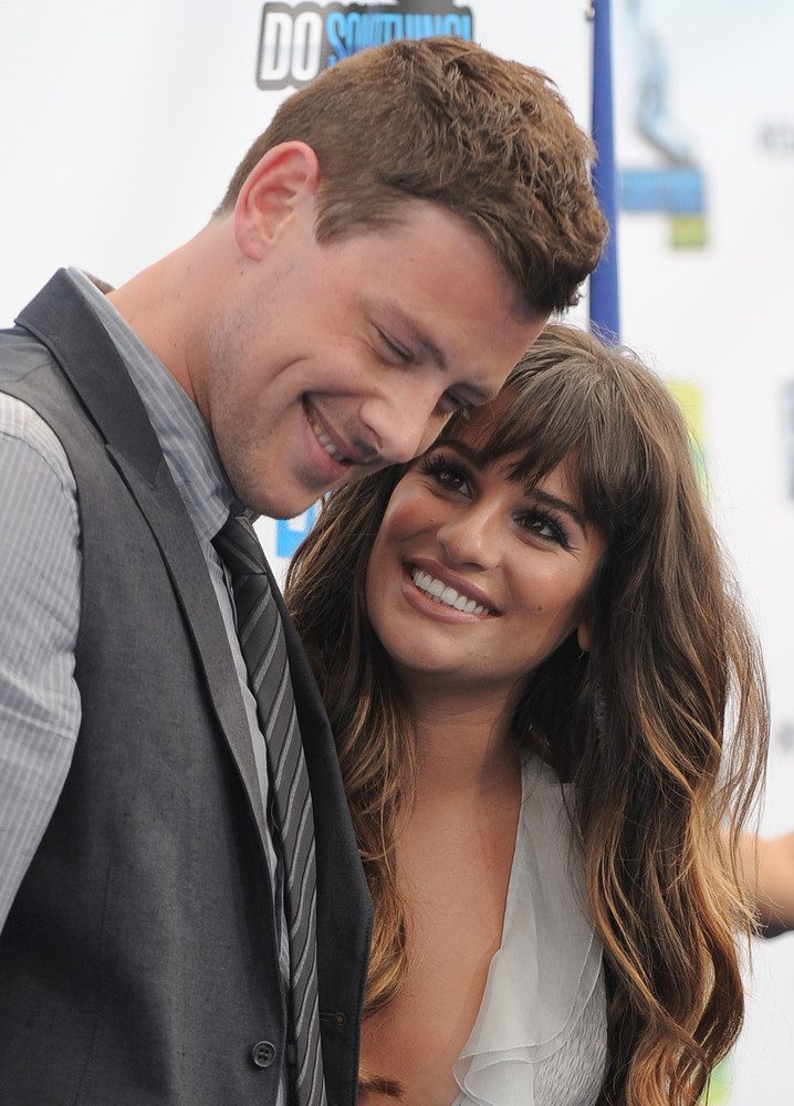 Cory Monteith and Lea Michele attend the 2012 Do Something awards on Sunday, Aug. 19, 2012 in Santa Monica, Calif.