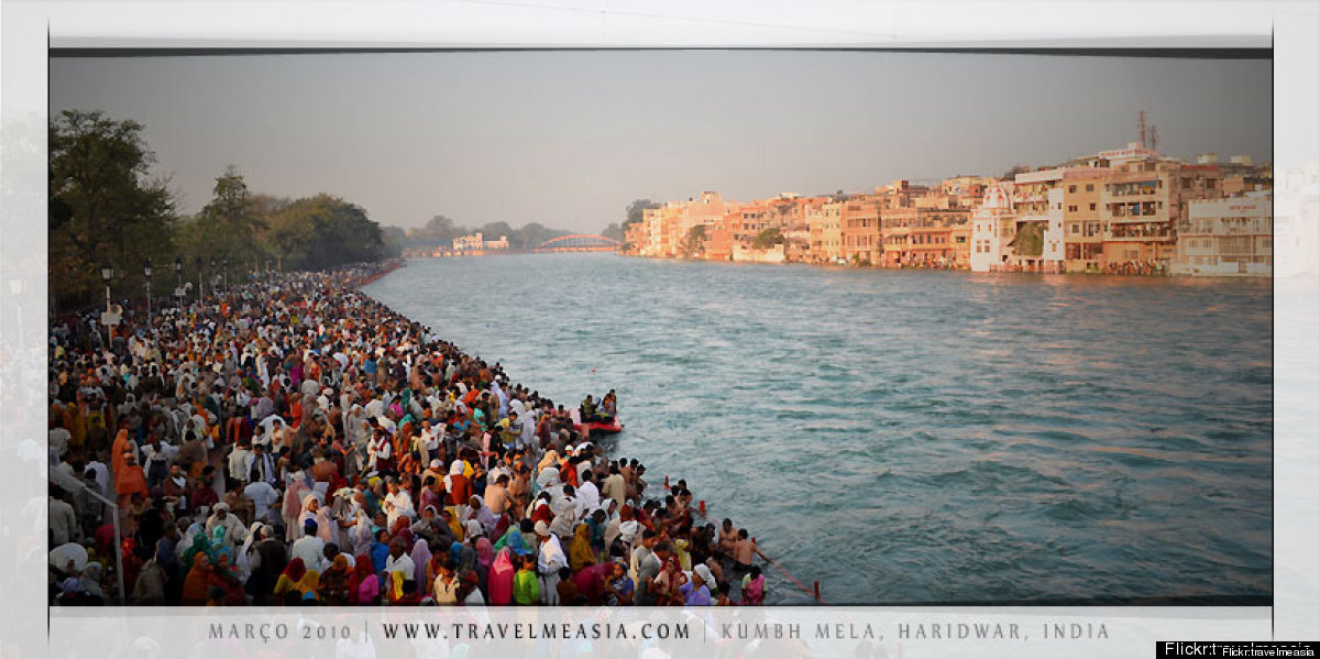 Probably the world's largest gathering ever, the Kumbh Mela festival in India occurs every 12 years. An estimated 8 million H