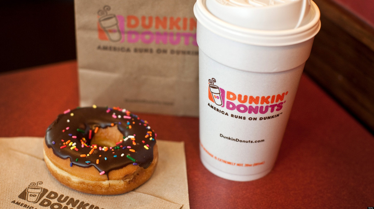"Ironic since their tagline is ""America runs on Dunkin'""...but California (and the entire Pacific Northwest) is currently miss"