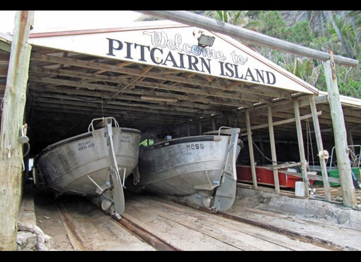 Christian's Café is said to be the only real restaurant on the Pitcairn Islands; it's only open on Fridays and visitors must