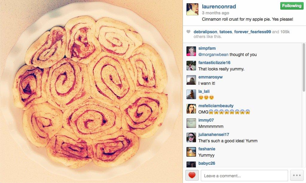 Lauren Conrad is an impressive baker.