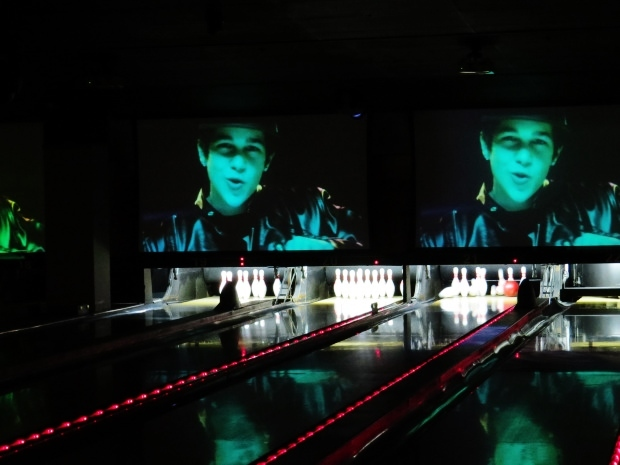 CBS hosts Austin Mahone fan party at Frames Bowling Lounge.