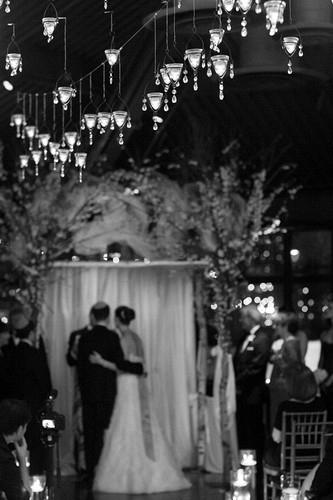 "Floating candles make a garden wedding even more romantic.  <a href=""http://lover.ly/explore?q=garden&utm_source=huffpo07"