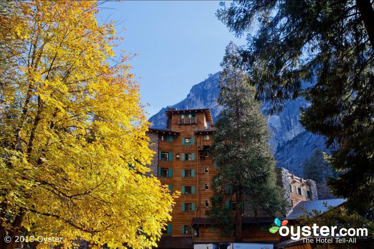 """Nestled deep amongst the pine trees, cliffs, and canyons of Yosemite is the 123-room <a href=""""http://www.oyster.com/yosemite-"""