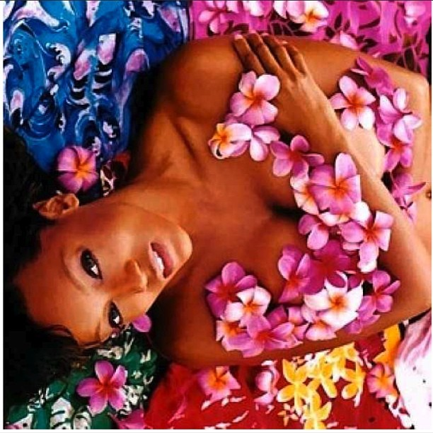 Fiercely floral on the cover of @GQ Magazine #ThrowbackTyTy (@tyrabanks)