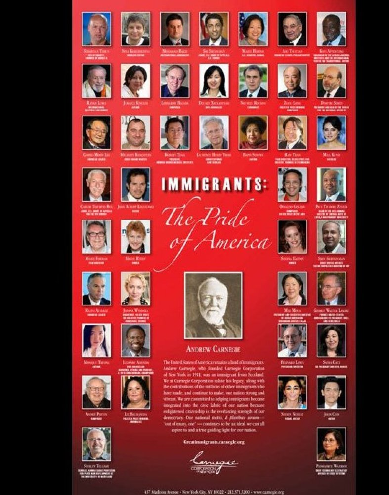 Since 2006, Carnegie Corporation of New York has celebrated the contributions of immigrants with a public-service ad ─<a href