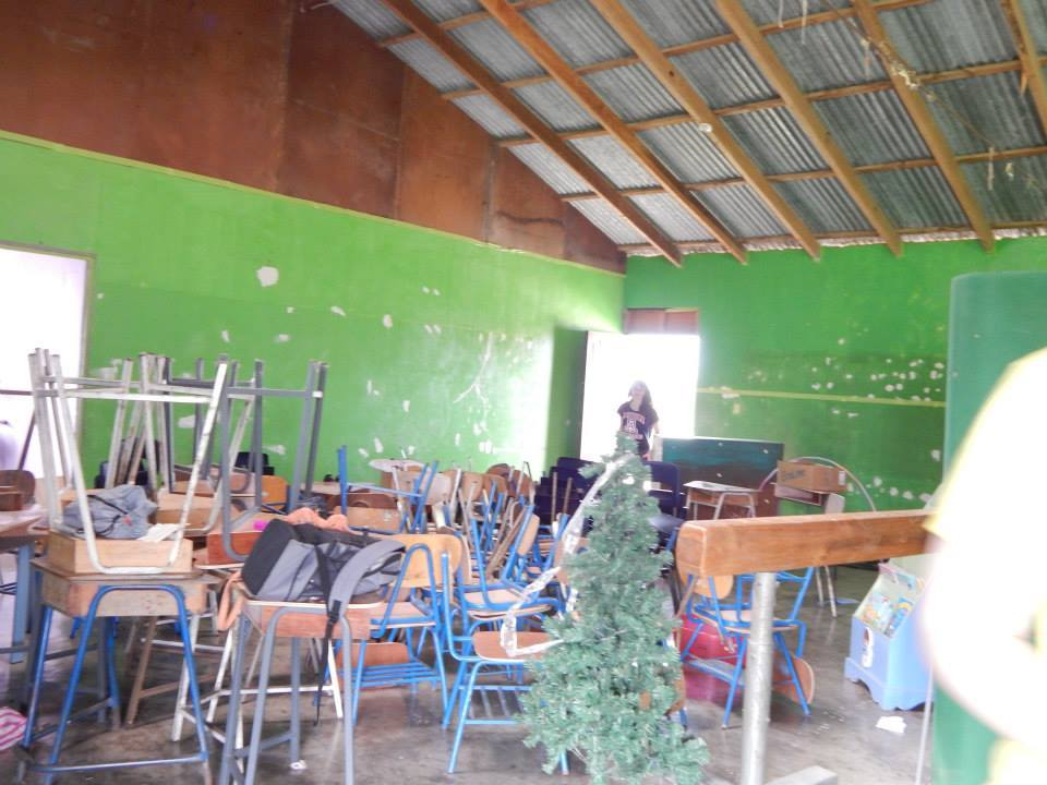 The classroom when we first started working on it at the beginning of the week.