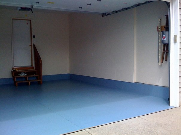 7 weekend diy projects thatll whip your garage into shape photos adding a little color to your floors can give your garage a whole new look solutioingenieria Images