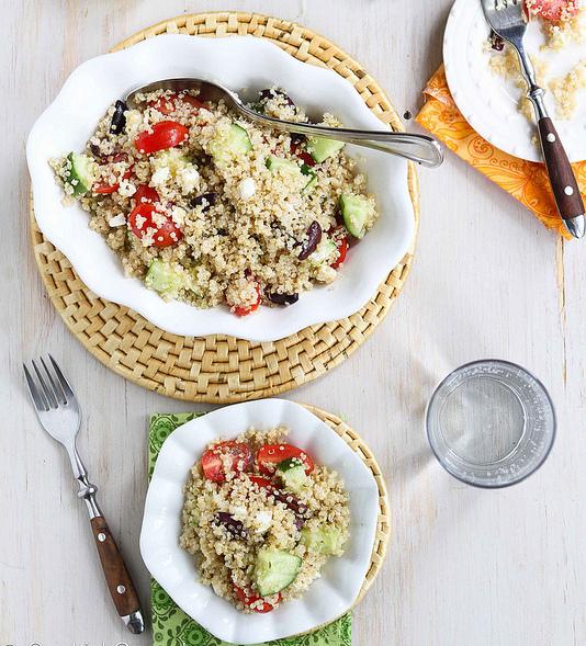 "Get the <a href=""http://www.cookincanuck.com/2013/06/quinoa-greek-salad-tomato-cucumber-feta-cheese/"" target=""_blank"">Quinoa"
