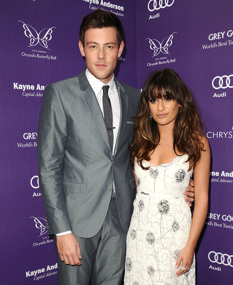 Actor Cory Monteith and actress Lea Michele attend the 12th annual Chrysalis Butterfly Ball on June 8, 2013 in Los Angeles, C