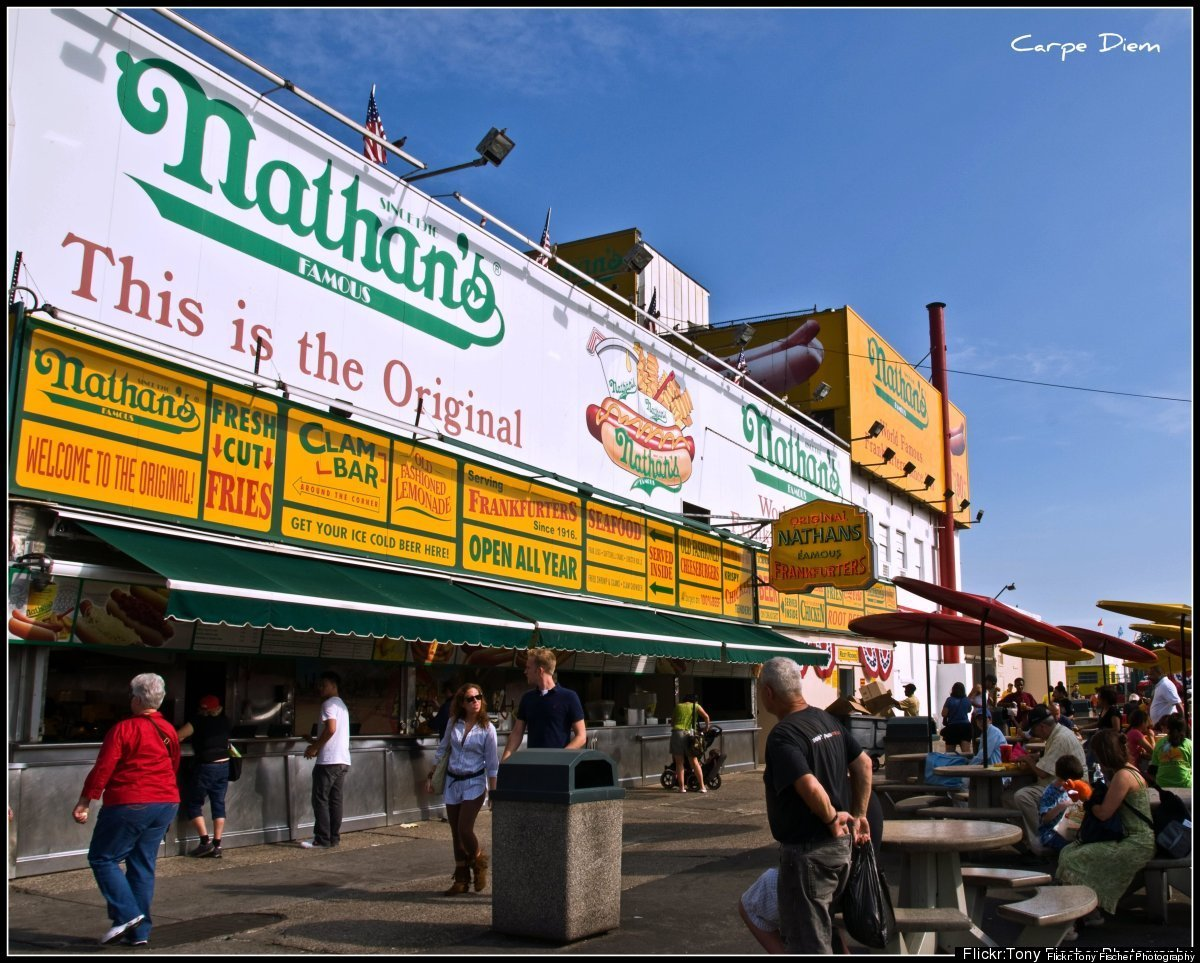 We have to kick this one off with the mother of all American hot dog locales: Coney Island. While some may pledge their alleg
