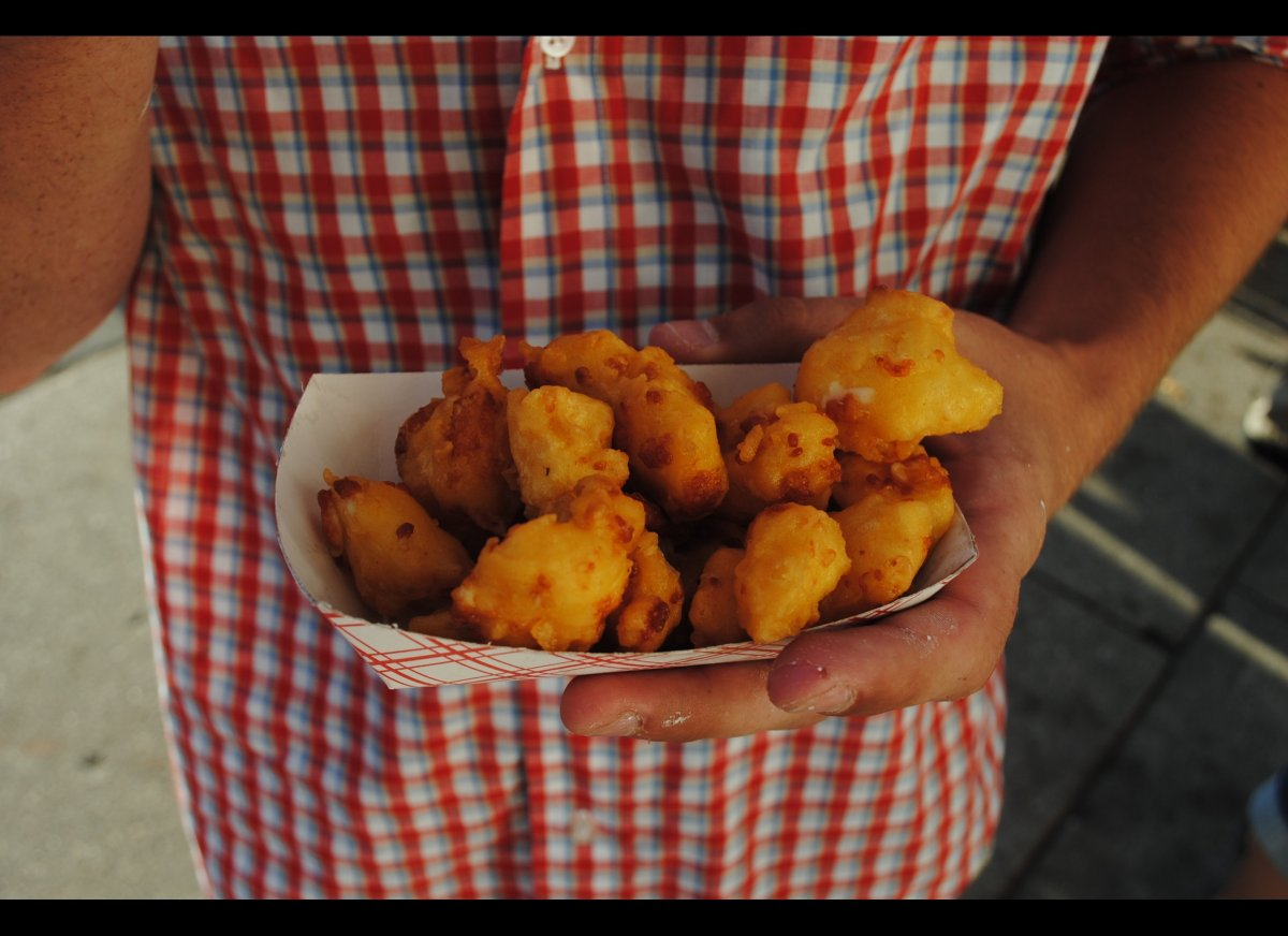The cheese state celebrates its love for cheese curds at the annual Cheese Curd Festival. The festival is filled with various
