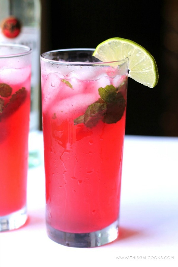 "<strong>Get the <a href=""http://www.thisgalcooks.com/2013/07/12/blackberry-mojito/"" target=""_blank"">Blackberry Mojito recipe<"