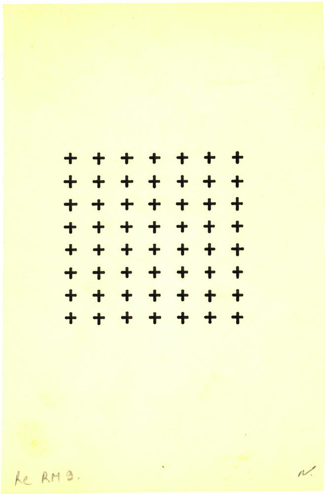 Rythme du millimètre Re RM 8 After 1975 Pencil on tracing paper 14.5 x 14.5 cm 5 3/4 x 5 3/4 inches