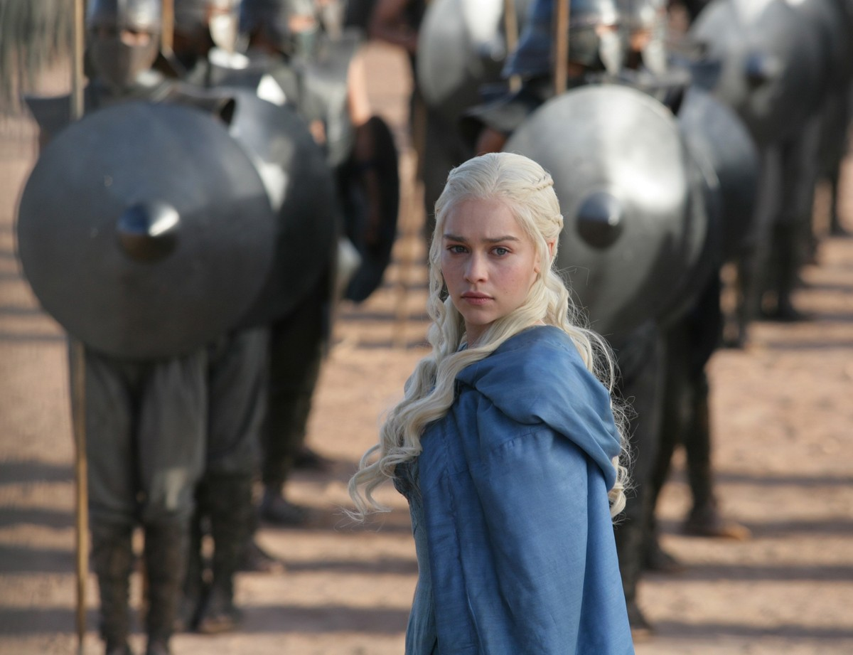 "<em>""I am Daenerys Stormborn of House Targaryen, of the blood of Old Valyeria. I am the dragon's daughter, and I swear to you"