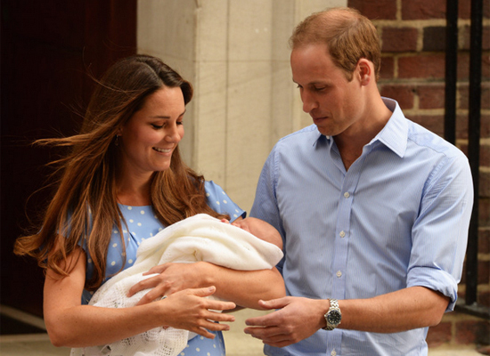 On July 24th, Kate Middleton and Prince William emerged from St. Mary's hospital to present little George Alexander Louis – h