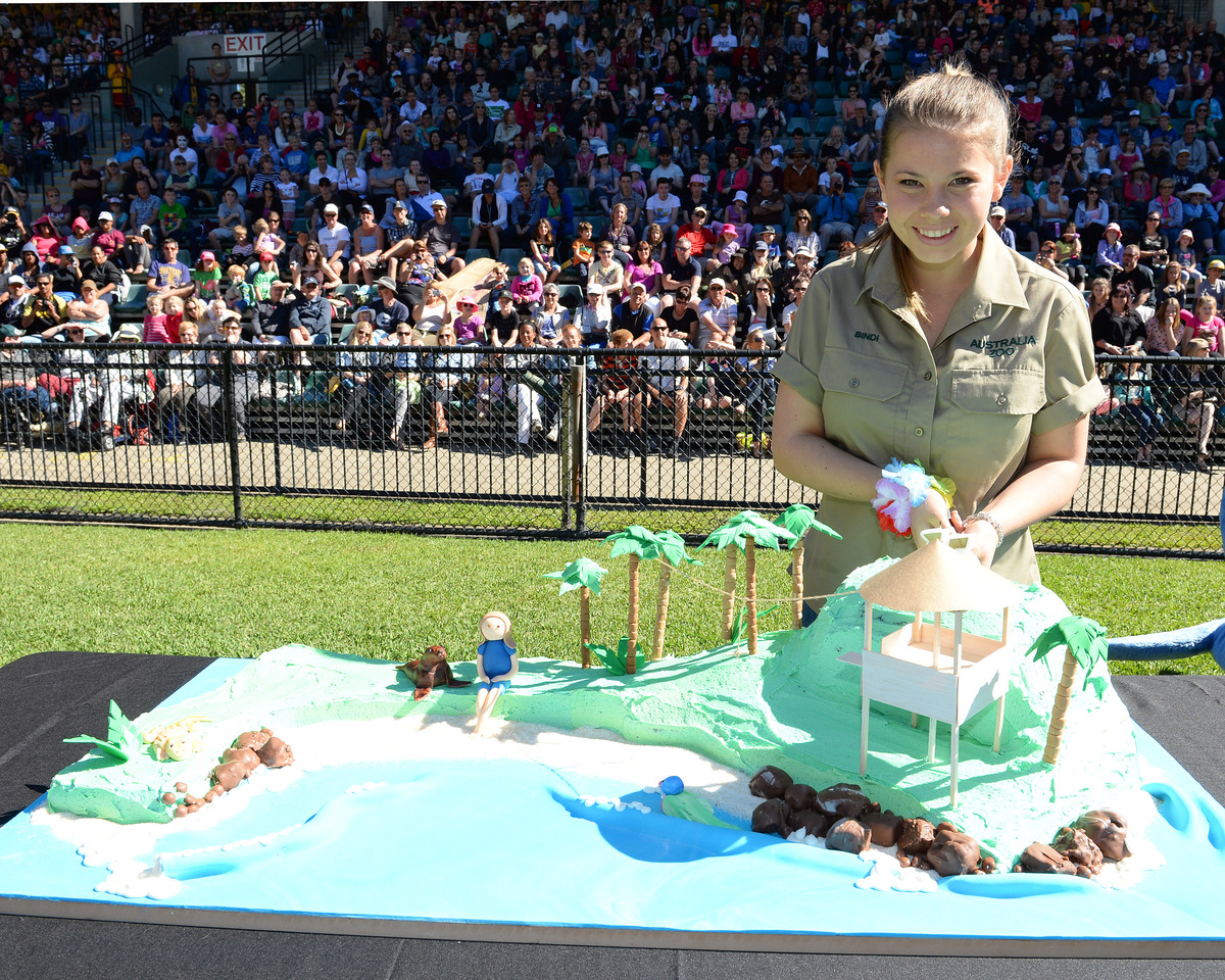 In this handout photo provided by Australia Zoo, Bindi Irwin celebrates her 15th birthday on July 24, 2013 in Beerwah, Austra