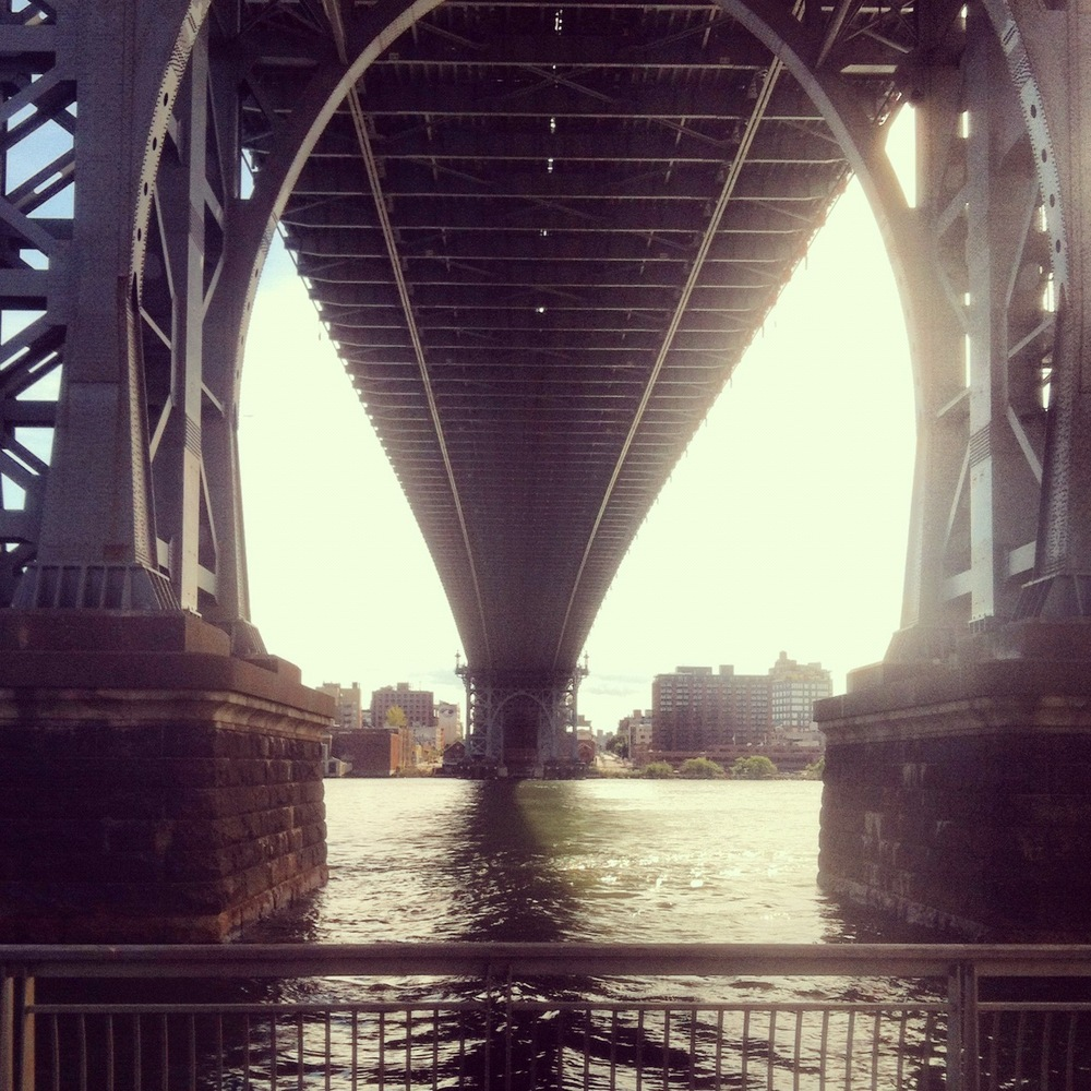 Admiring Brooklyn from Manhattan's East River Park