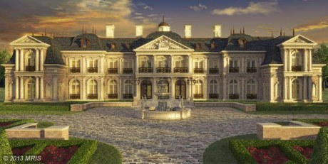 This 10 bedroom, 15 bath house modeled on the palace of Versailles is set to be built on Northern Virginia property previousl