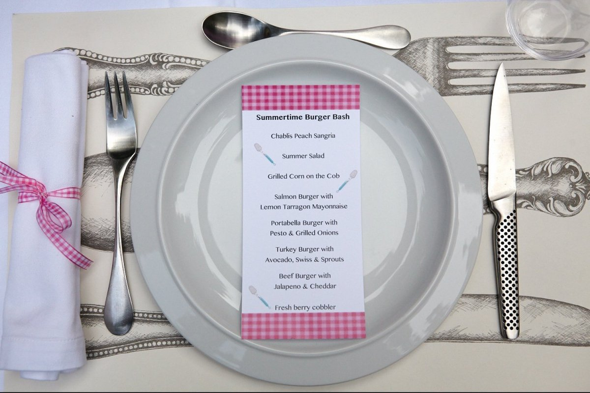 Specially designed paper placemats can be purchased at home retailers.
