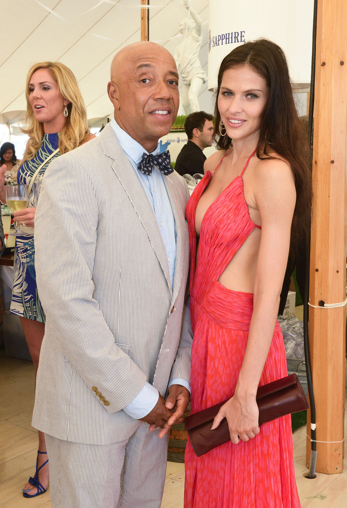 BRIDGEHAMPTON, NY - JULY 27:  Hana Nitsche and Russell Simmons attend the Russell Simmons 14th Annual Art For Life Benefit Sp