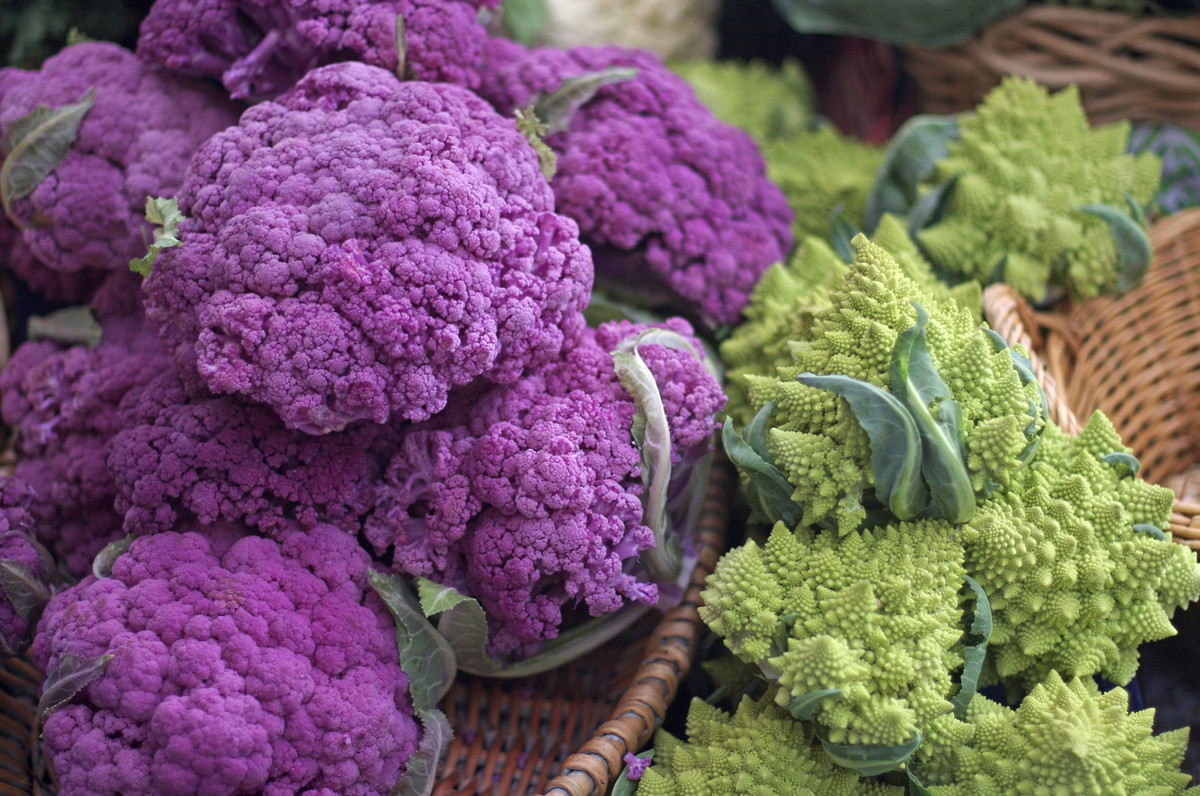 Opt for purple Graffiti and green Romanesco cauliflower -- they can contain twice the antioxidants as the white kind we commo