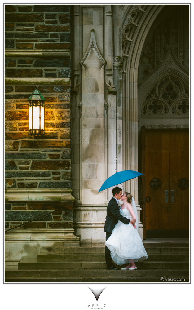 """""""A late summer rain shower after Katie and Scott's Duke Chapel wedding last night, on our way to what was a great reception p"""