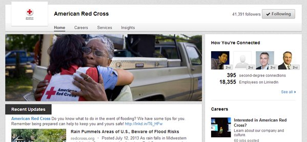 "To learn more about this organization, click <a href=""http://www.linkedin.com/company/american-red-cross"" target=""_blank"">her"