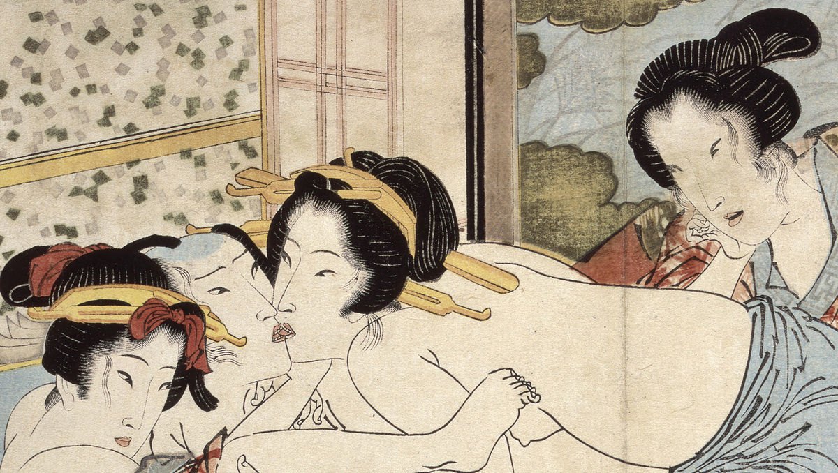 Keisai Eisen (1790–1848) Passion in the Snows of Spring Copy of Kaseikyu (Detail), 1822 Illustrated book, folding album 23.0