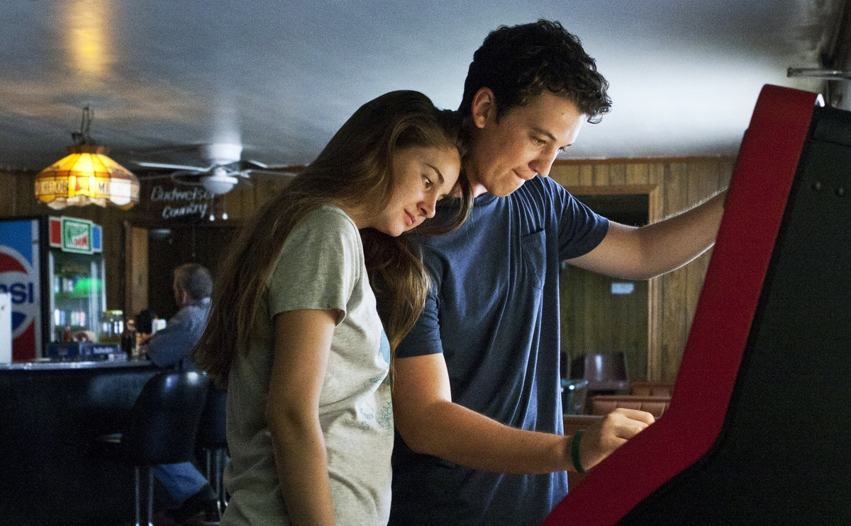 "This publicity image released by A24 Films shows Shailene Woodley, left, and Miles Teller in a scene from ""The Spectacular No"