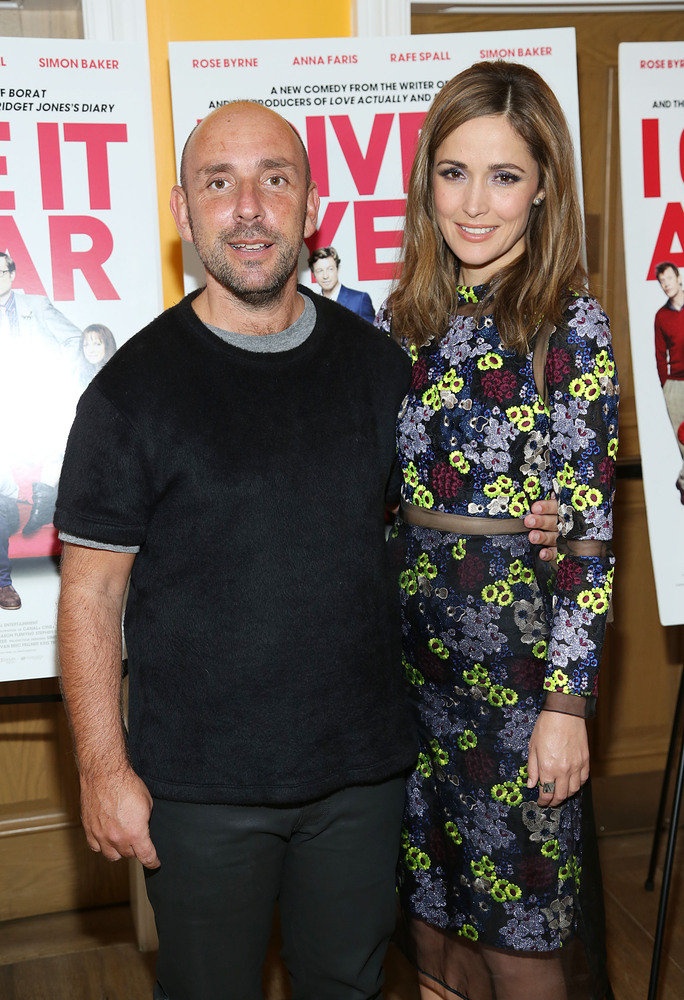 NEW YORK, NY - JULY 30:  Director Dan Mazer and actress Rose Byrne arrive at 'I Give It A Year' Special New York Screening at