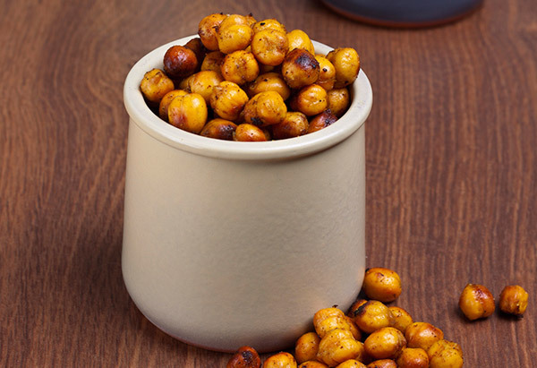 Roasted chickpeas are lower in calories and fat than nuts, but can still fill your salt cravingsand fill you up, too. You can