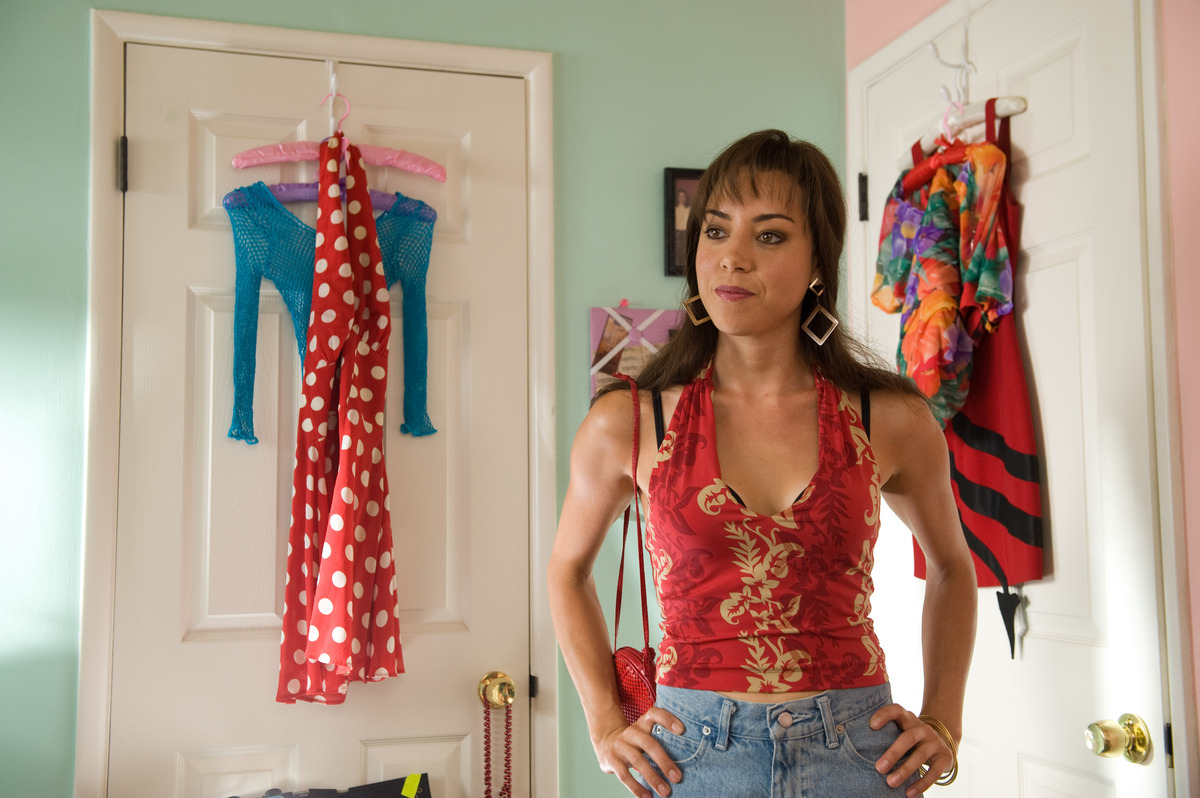 """This film publicity image released by CBS Films shows Aubrey Plaza portraying Brandy Klark in a scene from """"The To Do List."""""""