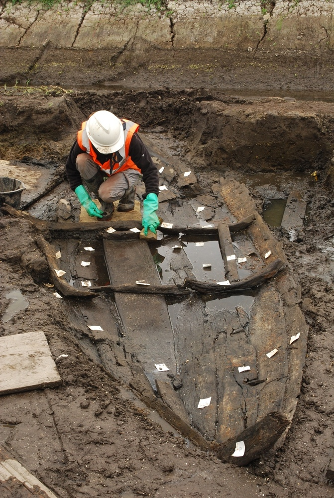"A medieval boat discovered during a flood defense project is exciting researchers in Norfolk. (Jeremy Halls / <a href=""http:/"
