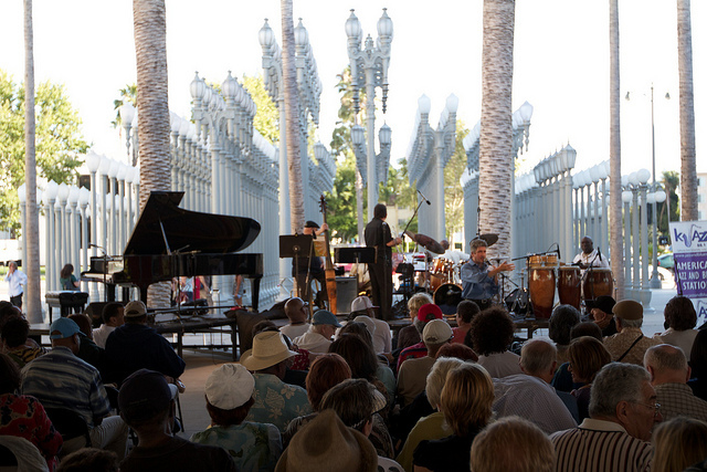 LACMA stays firmly in first place for coolest museum in the city with its Free Jazz in the Courtyard series. The summer conti